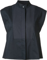 Derek Lam mandarin neck sleeveless shirt - women - Cotton/Spandex/Elastane - 36
