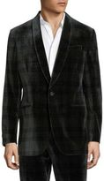 Polo Ralph Lauren Plaid Velvet Coat