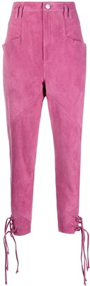 Isabel Marant High-Rise Tie-Ankle Trousers