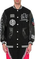 Ktz Embroidered Wool-blend Varsity Jacket