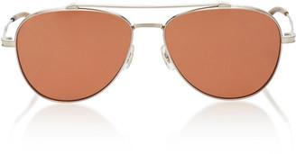Oliver Peoples Rikson Aviator Metal Sunglasses