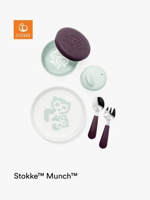 Stokke Munch Everyday Silicone Feeding Set, Grey