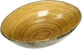 Organize It All ORGBH 28406-Watt Oval Bowl Egg Shell and Bamboo