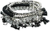 ABS by Allen Schwartz Silver-Tone Multi-Bead Multi-Row Stretch Bracelet