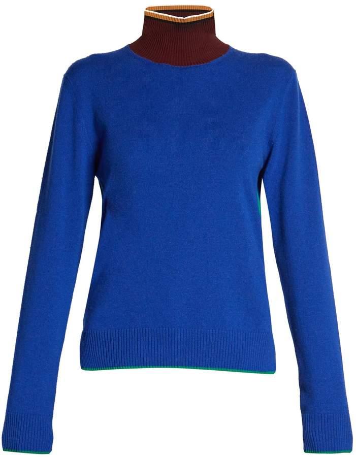 Marni Colour-block high-neck sweater