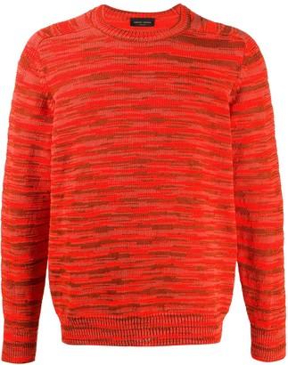 Roberto Collina Textured Striped Jumper