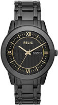 JCPenney RELIC Relic Caldwell Mens Black Stainless Steel Watch ZR12141