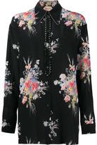 No.21 diamante trim floral shirt