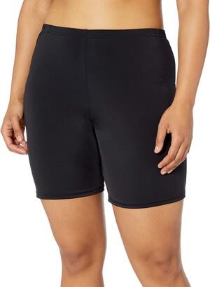 Fit 4 U Women's Plus Size Solid Swim Bike Short