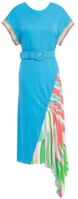 Emilio Pucci Asymmetric Belted Printed Jersey Midi Dress