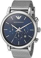 Emporio Armani Men's AR1979 Analog Quartz Grey Stainless Steel Watch