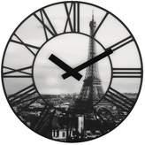 Nextime Black & White La Ville Wall Clock