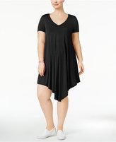 Soprano Trendy Plus Size V-Hem T-Shirt Dress