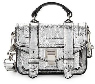 Proenza Schouler Mini Metallic Leather Messenger Bag