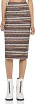 BCBGeneration Striped Rib-Knit Pencil Skirt