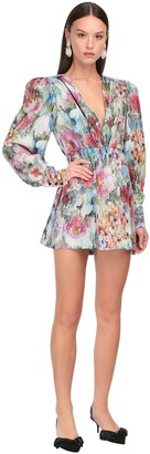 DANIELE CARLOTTA Printed Silk Twill Mini Dress