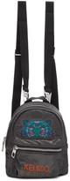 Kenzo Grey Limited Edition Holiday Mini Kampus Tiger Backpack