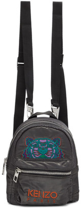 Kenzo Grey Limited Edition Holiday Mini Kampus Tiger Backpack