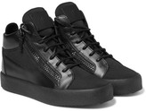 Giuseppe Zanotti Leather and Mesh High-Top Sneakers