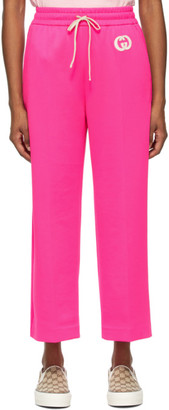 Gucci Pink Jersey Cropped Lounge Pants