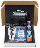 Gillette Fusion ProGlide Bundle With 4 ProGlide Razor Blade Refills + 1 ProGlide Handle with FlexBall Technology + ProGlide Sensitive Shave Gel 6 Ounce