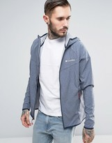 Columbia Heather Canyon Softshell Jacket Hooded In Navy Marl