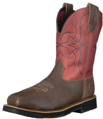 Irish Setter Work Women's Walker Safety Toe Western Boot Brown/Burgundy 7 D US