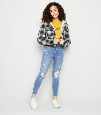 New Look Girls Ripped Frayed Hem Skinny Jeans