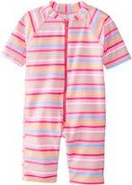 I Play I-Play Baby One Piece Swim Sunsuit, Pink Multi Stripe