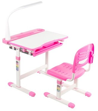 Vivo Height Adjustable Children's Art Desk Color: Pink