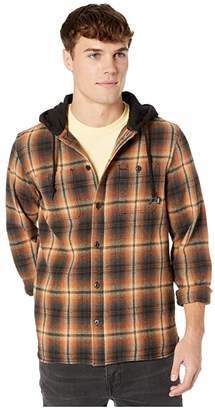 Vans Lopes Long Sleeve Flannel (Khaki) Men's Clothing