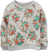 Carter's Floral Top (Toddler/Kid) - Oatmeal-3T