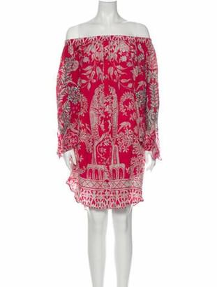 HEMANT AND NANDITA Silk Mini Dress Pink
