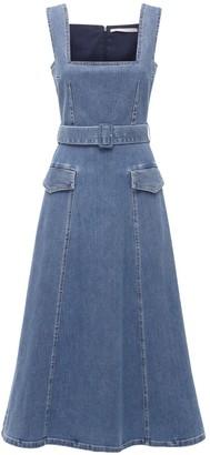 Emilia Wickstead Cotton Denim Dress W/Belt