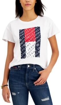Tommy Jeans Cotton Logo Flag T-Shirt