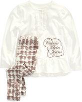 Calvin Klein Kids Set, Little Girls 2-Piece Shirt and Printed Leggings