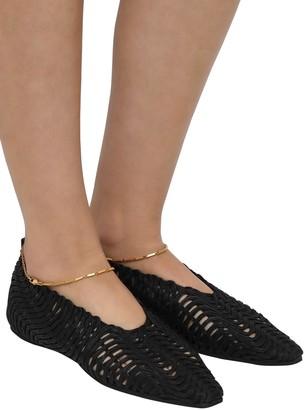 Stella McCartney 10mm Ankle Strap Cotton Ballerinas