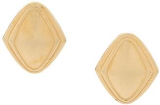 Monet Pre Owned '1980s Rhombus Clip-On Earrings