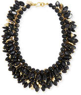 Ashley Pittman Kalamu Layered Dark Horn Necklace