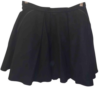 Avelon Black Wool Skirt for Women