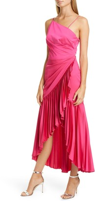 Flor Et. Al Izamal Asymmetrical High/Low Satin Cocktail Dress