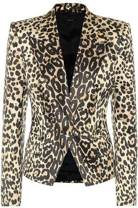 Tom Ford Leopard-print cotton-blend blazer