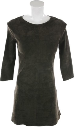 Jitrois Green Leather Dresses
