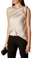 Karen Millen Knot And Drape Shoulder Top, Neutral