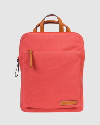 The Horse Leather-Trimmed Canvas Backpack