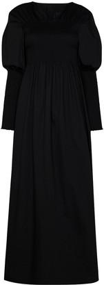 Totême Smocked Maxi Dress