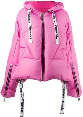 KHRISJOY Drawstring-Hood Puffer Jacket