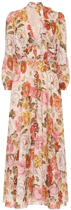 Zimmermann Bonita floral linen dress