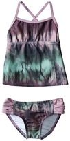 Hurley To Dye For Tankini Top & Tab Side Bottom (Little Kids)