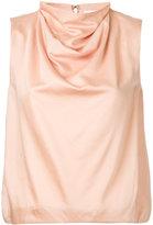 08sircus draped neck top - women - Cotton/Cupro - 36